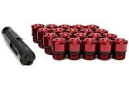 Project Kics 12x1.25 R40 Iconix Aluminum Cap Set - Red (20 Pcs)