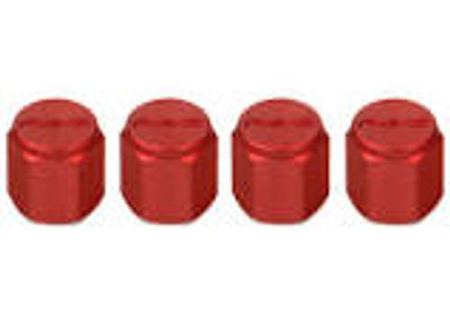 Rays Aluminum Air Valve Cap Set - Red