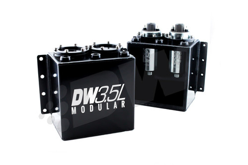 DeatschWerks 3.5L Modular Surge Tank (1-2 DW35 0il Fuel Pumps) (Pumps Not Included)