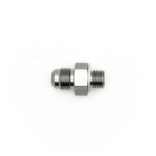DeatschWerks 6AN Male Flare to M12 X 1.5 Male Metric Adapter  (Includes Crush Washer)