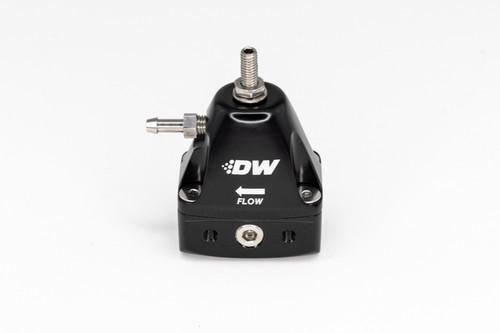 DeatschWerks DWR1000iL In-Line Adjustable Fuel Pressure Regulator - Black
