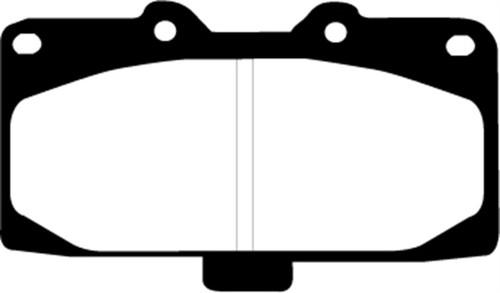 EBC 89-95 Nissan Skyline (R32) 2.6 Twin Turbo GT-R Redstuff Front Brake Pads