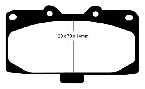 EBC 89-95 Nissan Skyline (R32) 2.6 Twin Turbo GT-R Bluestuff Front Brake Pads