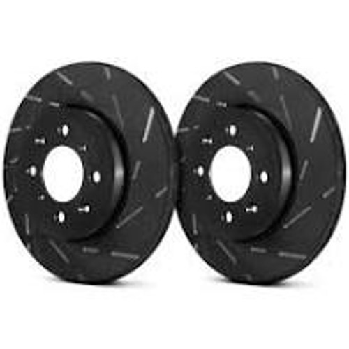 EBC 94-96 Nissan 240SX 2.4 (ABS) (5 Lug) USR Slotted Front Rotors