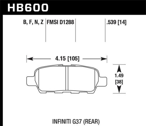 Hawk Infiniti G35 Sport/G37 Performance