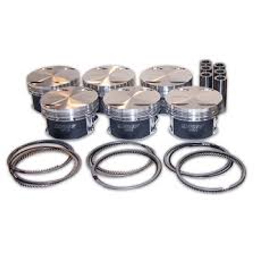 Manley 93-98 Toyota Supra Turbo (2JZGTE) 86.5mm +.5mm Oversized Bore 8.5:1 Dish Piston Set with Ring