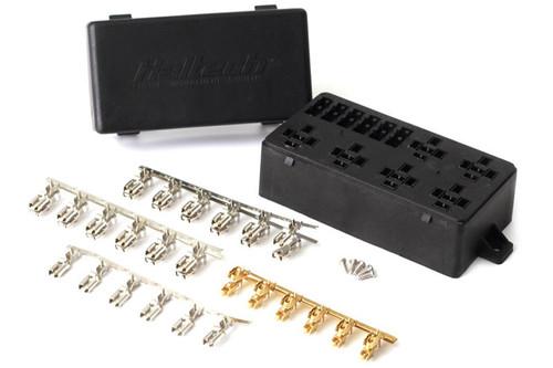 Haltech 6 Circuit Haltech Fuse Box w/Lid/Pins