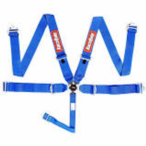 RaceQuip Blue SFI CAMLOCK 5pt PD Lap Seat Belt