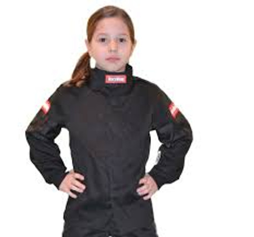 RaceQuip Black Trim SFI-1 JR. Jacket - KSmall