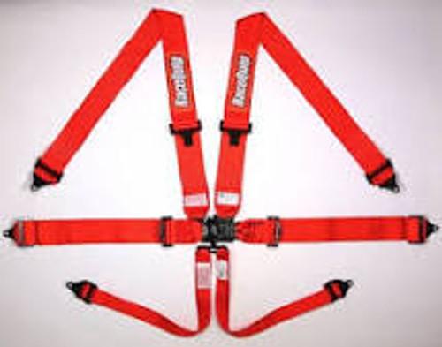 RaceQuip SFI Pro L&L 6pt PD Lap Belt Red