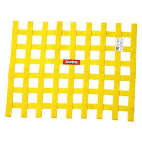 RaceQuip Yellow 18in H x 24W SFI Ribbon Window Net