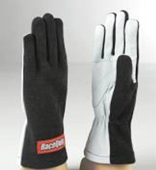 RaceQuip Black 1-Layer SFI-1 Glove - Medium