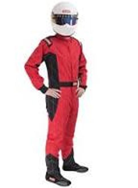 RaceQuip Red SFI-1 1-L Suit - Medium Tall