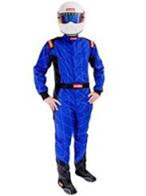 RaceQuip Blue Chevron-1 Suit - SFI-1 XL