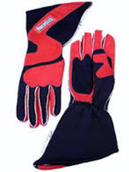 RaceQuip SFI-5 Red/Black Large Outseam Angle Cut Glove