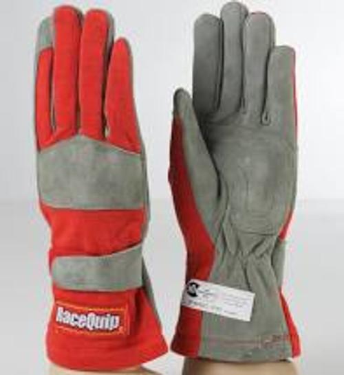 RaceQuip Red 1-Layer SFI-1 Glove - Medium
