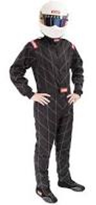 RaceQuip Black SFI-1 1-L Suit - XL
