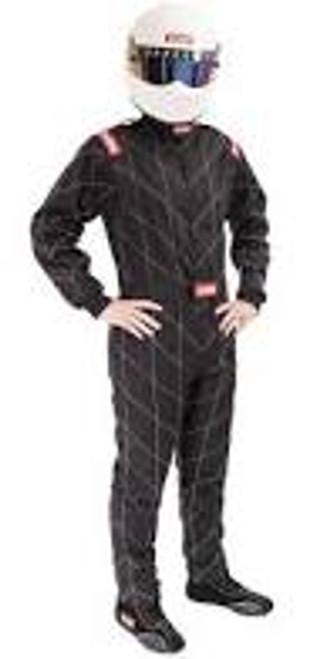 RaceQuip Black Chevron-1 Suit - SFI-1 3XL