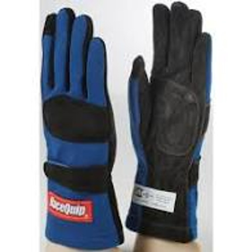 RaceQuip Blue 2-Layer SFI-5 Glove - Large