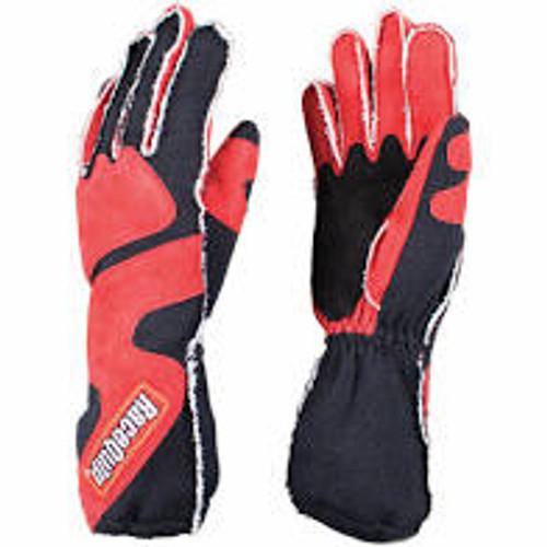 RaceQuip SFI-5 Red/Black Medium Outseam w/ Closure Glove