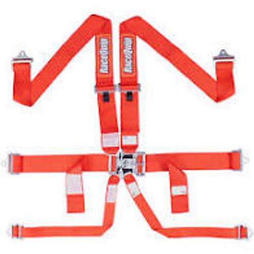 RaceQuip Red SFI Pro L&L 6pt PD Lap HNR Belt