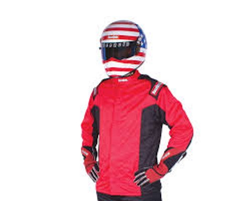 RaceQuip Red Chevron-5 Jacket SFI-5 - Small