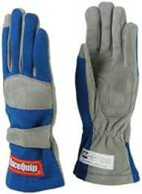 RaceQuip Blue 1-Layer SFI-1 Glove - Large