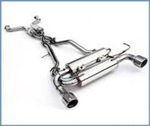Invidia 07+ Infiniti G37 Coupe Gemini Rolled Stainless Steel Tip Cat-back Exhaust