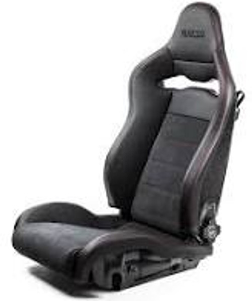 Sparco Seat SPX Special Edition Black/Red w/ Gloss Carbon Shell - Right