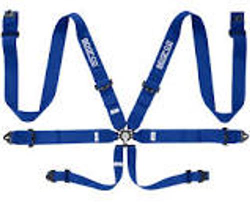 Sparco Belt 6pt 3in Steel Blue