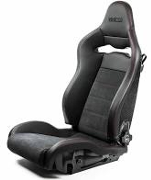 Sparco Seat SPX Special Edition Black/Red w/ Gloss Carbon Shell - Left