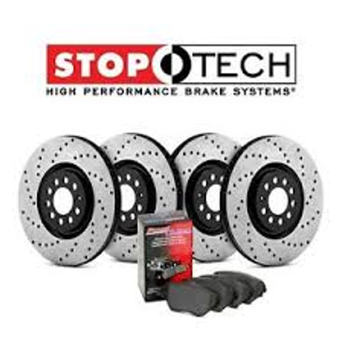 StopTech 09 Nissan 370Z 3.7L Four Wheel Drilled & Slotted Sport Brake Kit