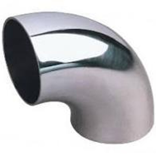 Stainless Bros 2.25in SS304 90 Degree Elbow 1D / 2.25in CLR  - 16GA / .065in - No Leg Mandrel Bend
