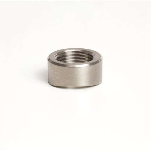 Ticon Industries Titanium O2 Sensor Bung 1.75in to 2.5in Tubing (M18x1.5) - Coped End