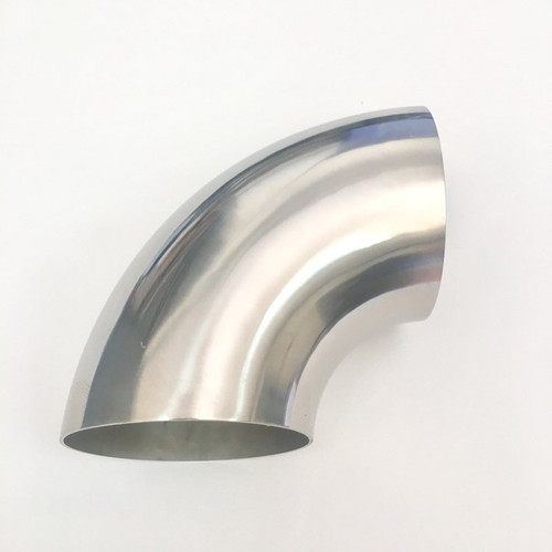 Ticon Industries 4.0in Diameter 90 .9D/3.5in CLR 1.5mm /.059in Wall Thickness Titanium Elbow