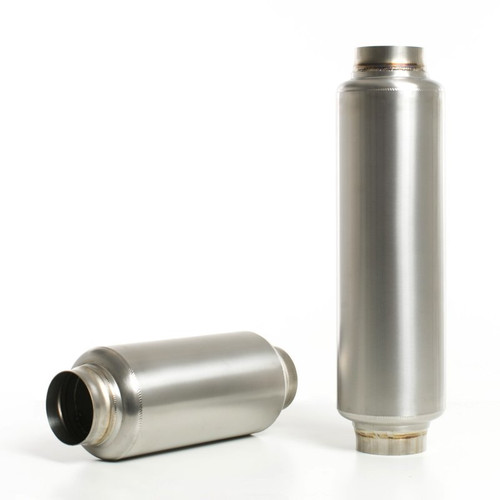 Ticon Industries 12in OAL 2.5in In/Out Ultralight Titanium Muffler