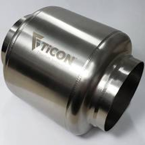 Ticon Industries 7in OAL 2.5in In/Out Ultralight Titanium Muffler