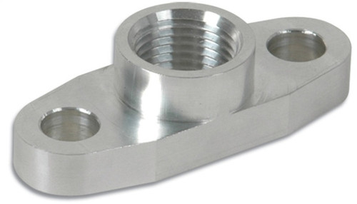 Vibrant Billet Aluminum Oil Drain Flange (T3 T3/T4 and T04) - tapped 1/2in NPT