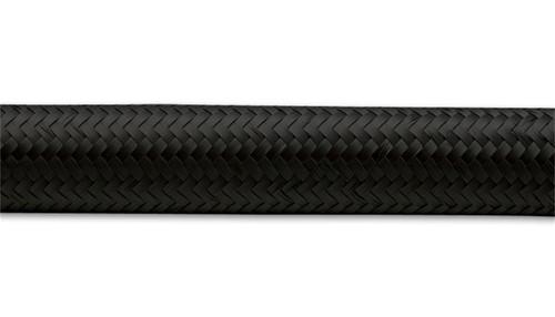 Vibrant -6 AN Black Nylon Braided Flex Hose (2 foot roll)