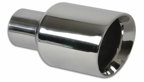Vibrant 3.5in Round SS Exhaust Tip (Double Wall Angle Cut Beveled Outlet)