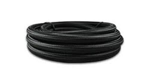 Vibrant -6 AN Black Nylon Braided Flex Hose w/ PTFE liner (20FT long)