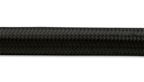 Vibrant -6 AN Black Nylon Braided Flex Hose (5 foot roll)