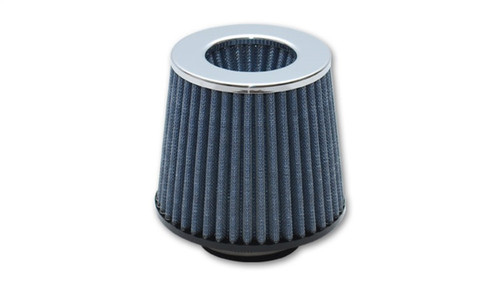 Vibrant Open Funnel Perf Air Filter (5in Cone O.D. x 5in Tall x 4.5in inlet I.D.) Chrome Filter Cap