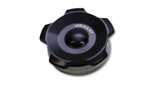 Vibrant 2in OD Aluminum Weld Bungs w/ Anodized Black Aluminum Threaded Cap (incl. O-Ring)
