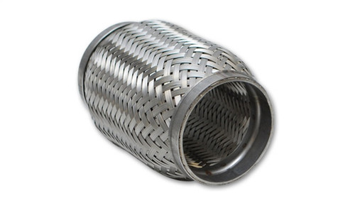 Vibrant SS Flex Coupling with Inner Braid Liner 2in inlet/outlet x 8in flex length