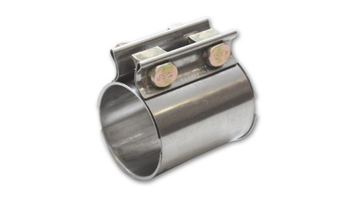 Vibrant TC Series Heavy Duty SS Exhaust Sleeve Butt Joint Clamp for 2.5in O.D. Tubing