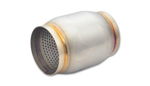 Vibrant SS Race Muffler 3in inlet/outlet x 5in long