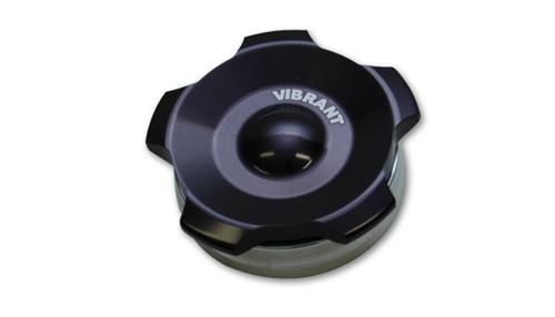 Vibrant 2.75in OD Aluminum Weld Bungs w/ Anodized Black Aluminum Threaded Cap (incl. O-Ring)