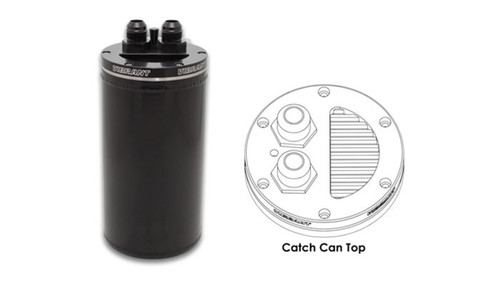 Vibrant 4in OD Universal Catch Can 2.0 w/ Integrated Filter Aluminum - Anodized Black