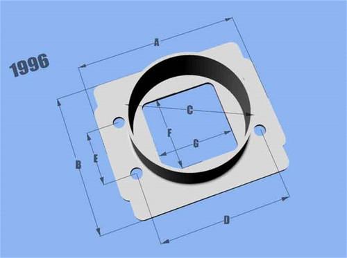 Vibrant MAF SenAdapter Plate Toyota w/ Bosch MAF Sensuse w/ 3in ID filteronly